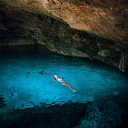 Delphinus cenote rainy day Cancun