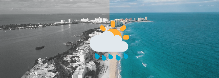 Delphinus weather in Cancun rainy days